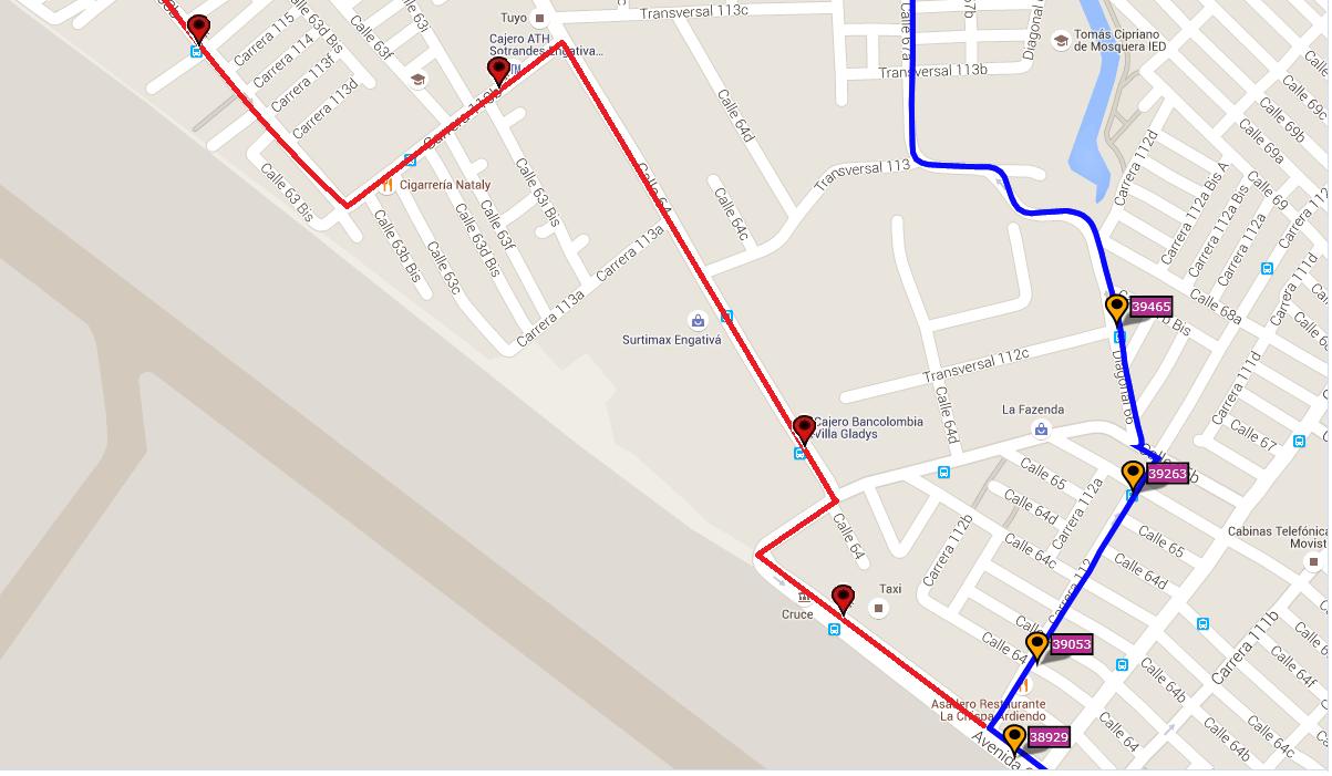 Ruta SITP: 539 Engativá Centro ↔ El Uval [Urbana] 10