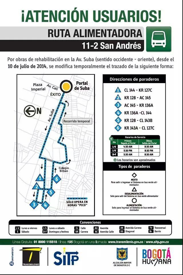 Desvío temporal ALIMENTADOR 11-2 San Andrés