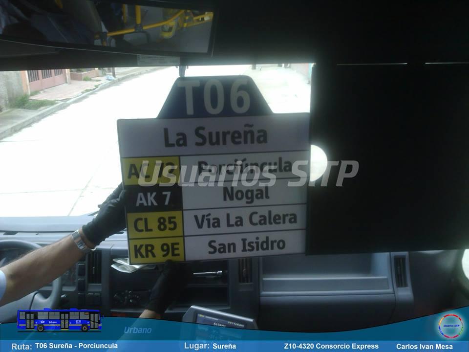 Foto ruta urbana T06 La Sureña - Porciúncula