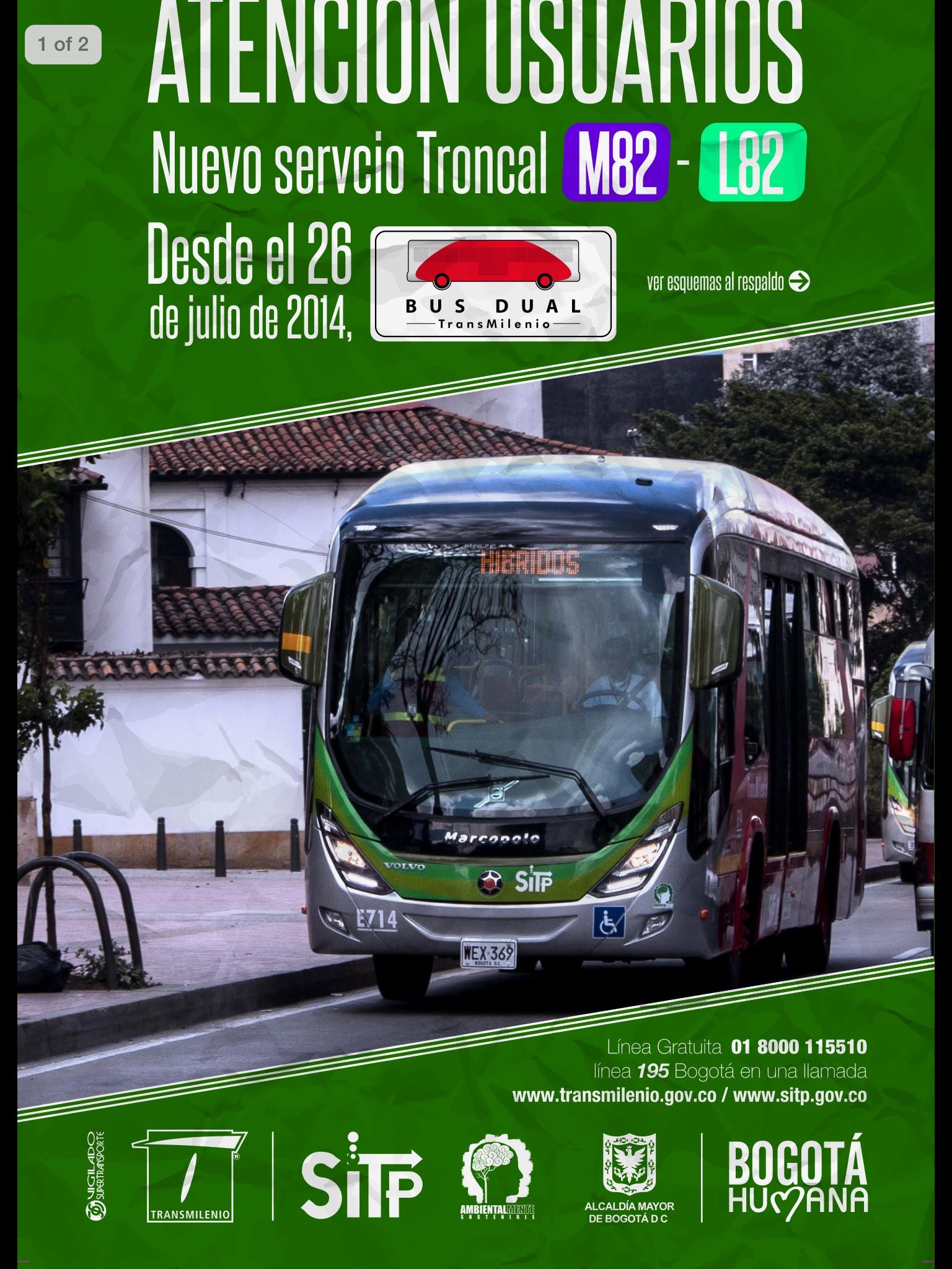 Volante bus DUAL M82-L82