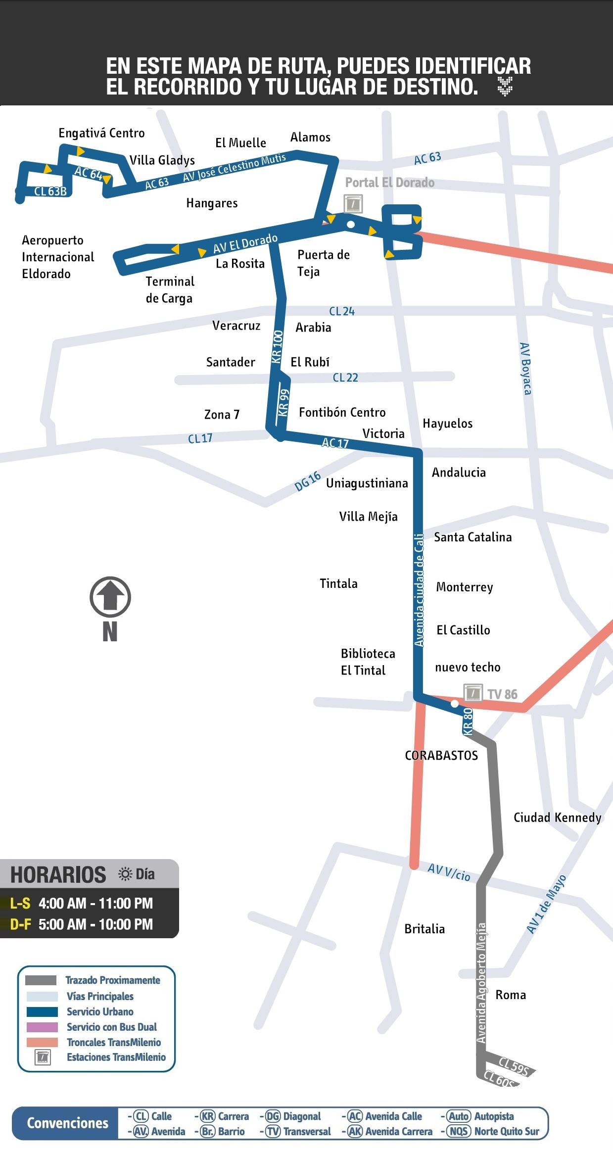 Mapa extraoficial ruta urbana 702- cortesía de Oskar A. Rojas Torres
