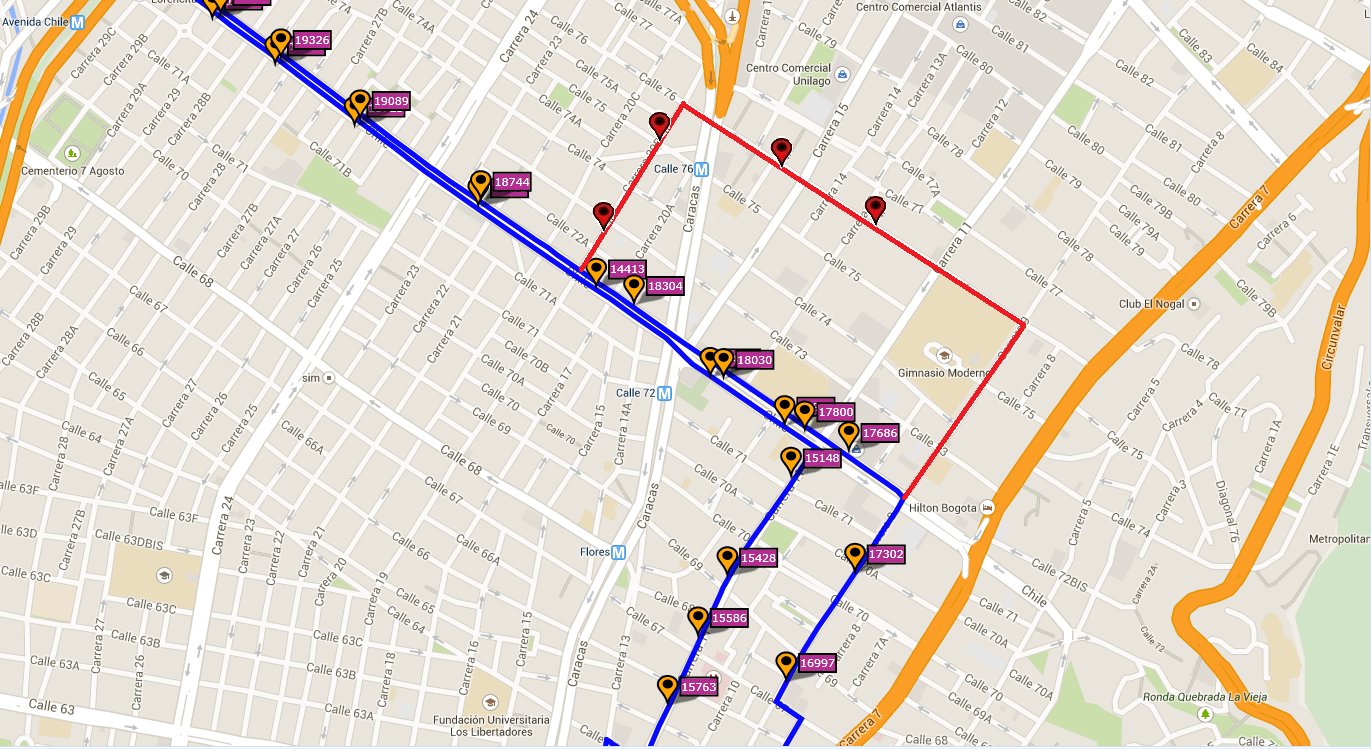 Ruta SITP: E25 Engativá Centro ↔ Lourdes [Urbana] 4