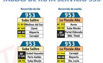 Inicia la nueva ruta urbana del SITP - 953 FISCALA ALTA-SUBA SALITRE 4