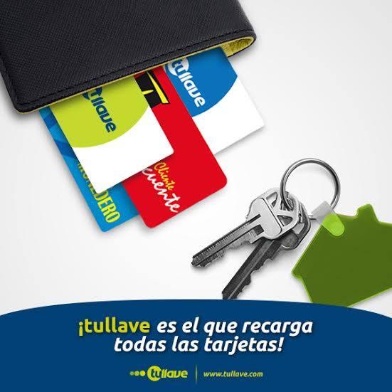 Cartel promocional de TuLlave informando de la carga de todas las tarjetas en sus puntos afiliados