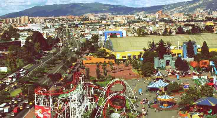 Vista aérea de la Avenida 68