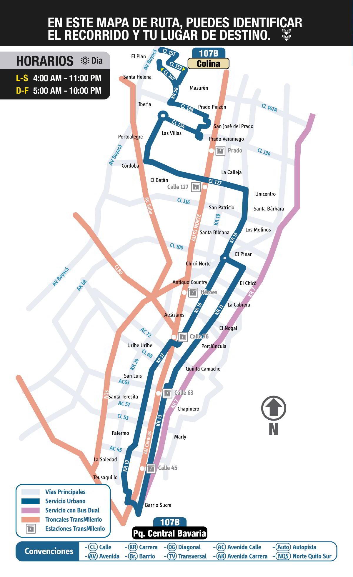 Mapa urbana 107B