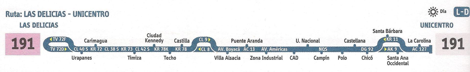 Ruta 191: Unicentro - Las Delicias [Urbana] 1