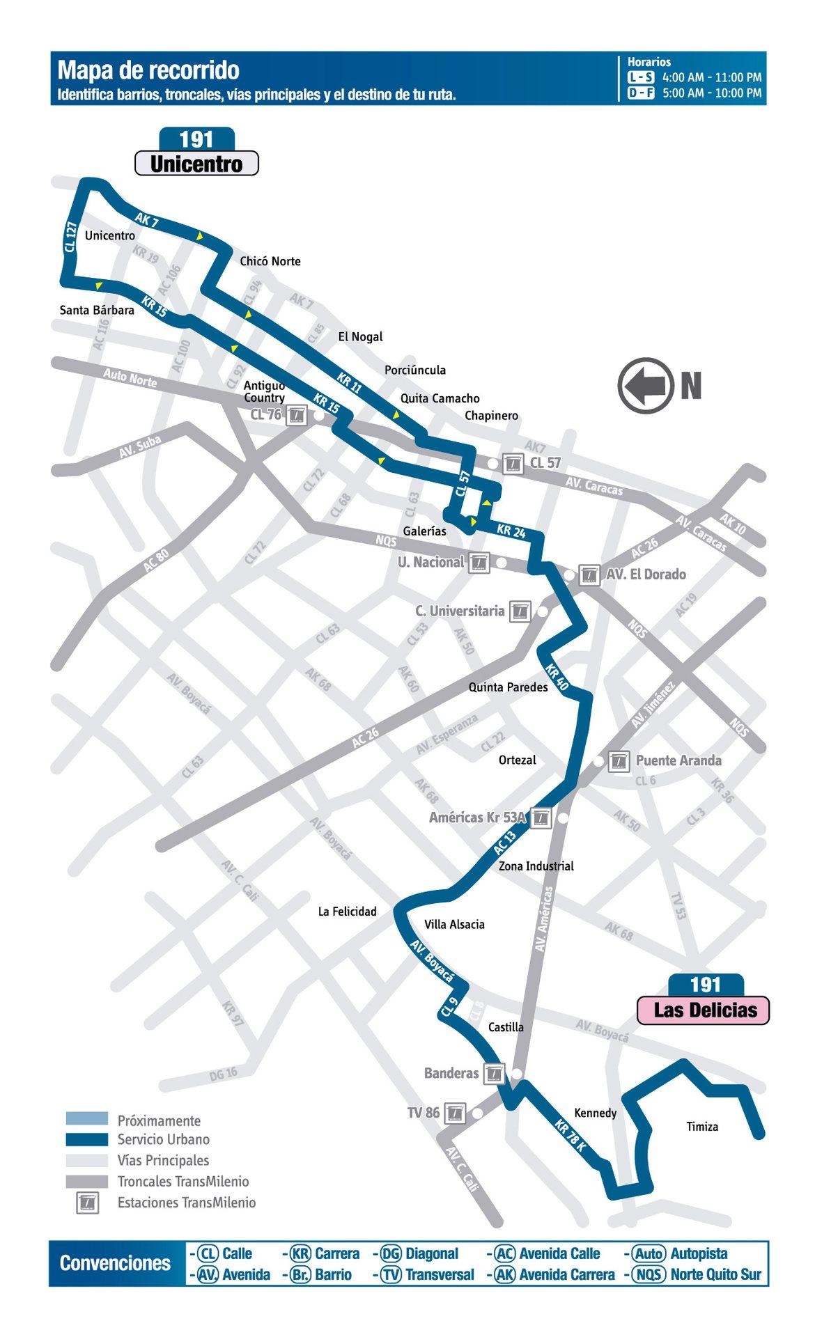 Ruta 191: Unicentro - Las Delicias [Urbana] 2