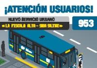 Anunciada la urbana 953 La Fiscala Alta - Suba Salitre