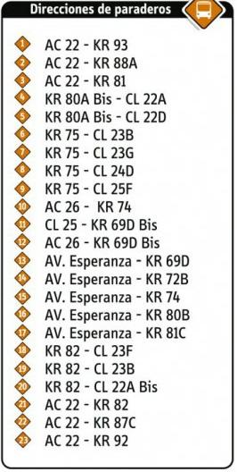 Ruta SITP: 17-3 Modelia [Complementaria] 2