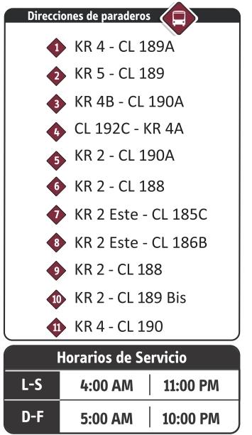 18-6 ruta especial - paraderos SITP