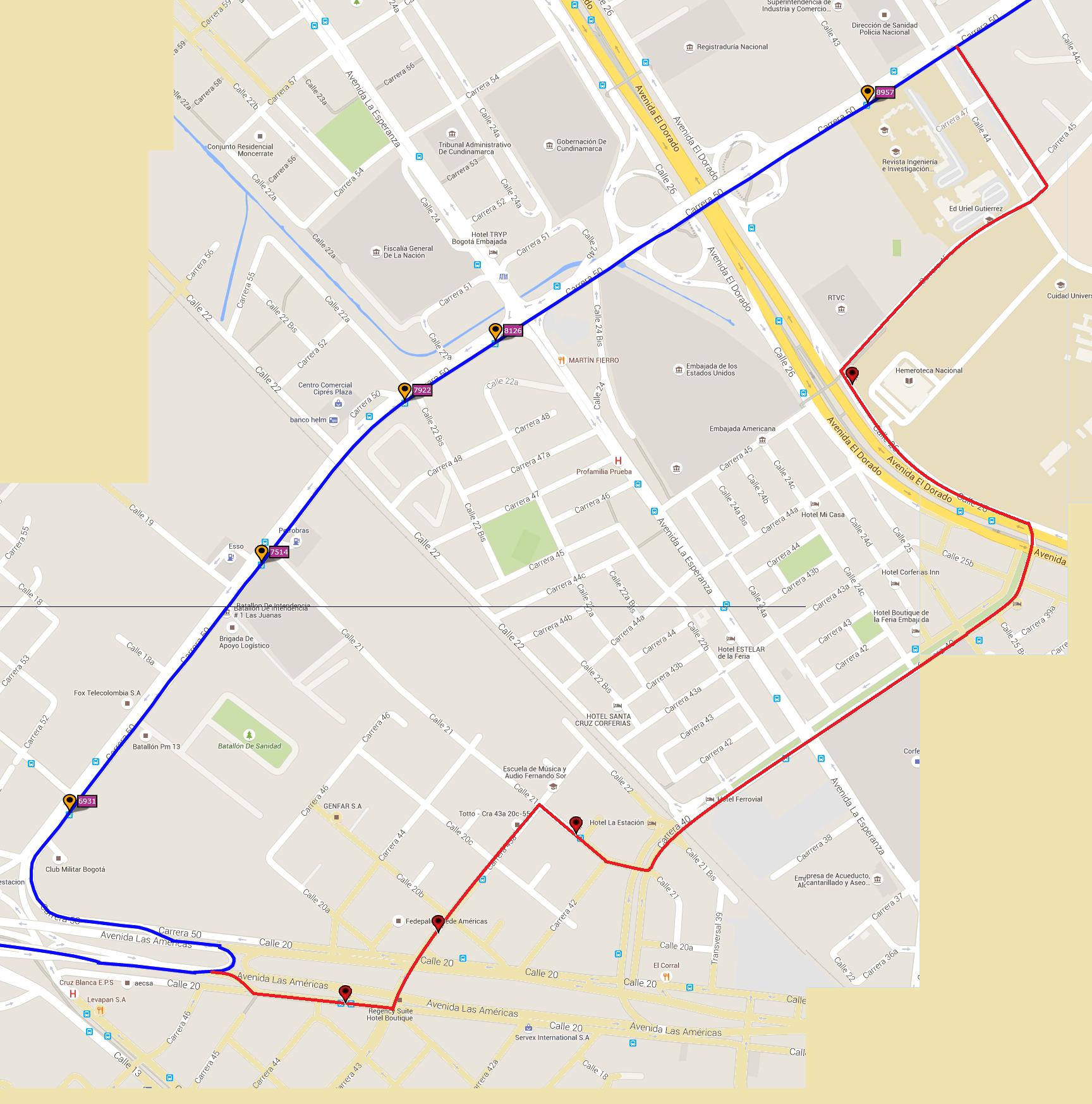 Ruta SITP: C33 Mundo Aventura - Gilmar 4
