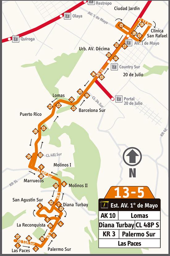 Mapa ruta complementaria 13-5