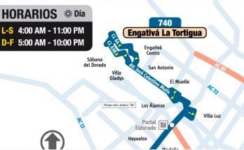 Anunciada oficialmente la urbana 740 Engativá La Tortigua - Canadá Guira