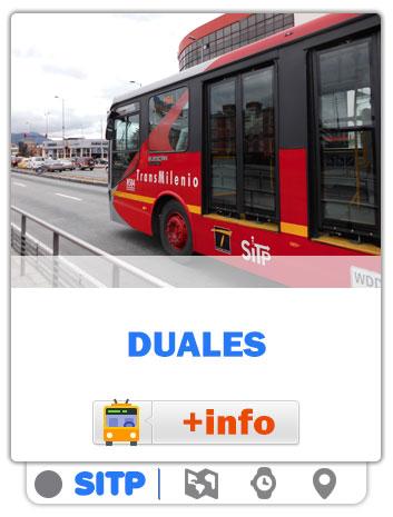 Consultar Mapas de las rutas Duales de Bogotá - SITP