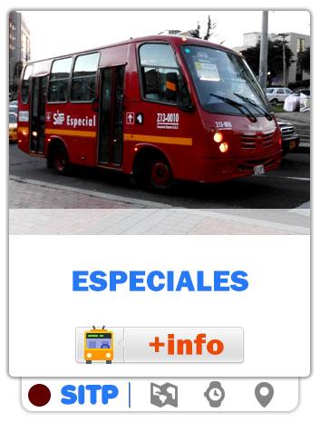 Consultar Mapas de las rutas Especiales de Bogotá - SITP