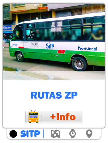 Consultar Mapas de las rutas ZP / Zona Provisional SITP