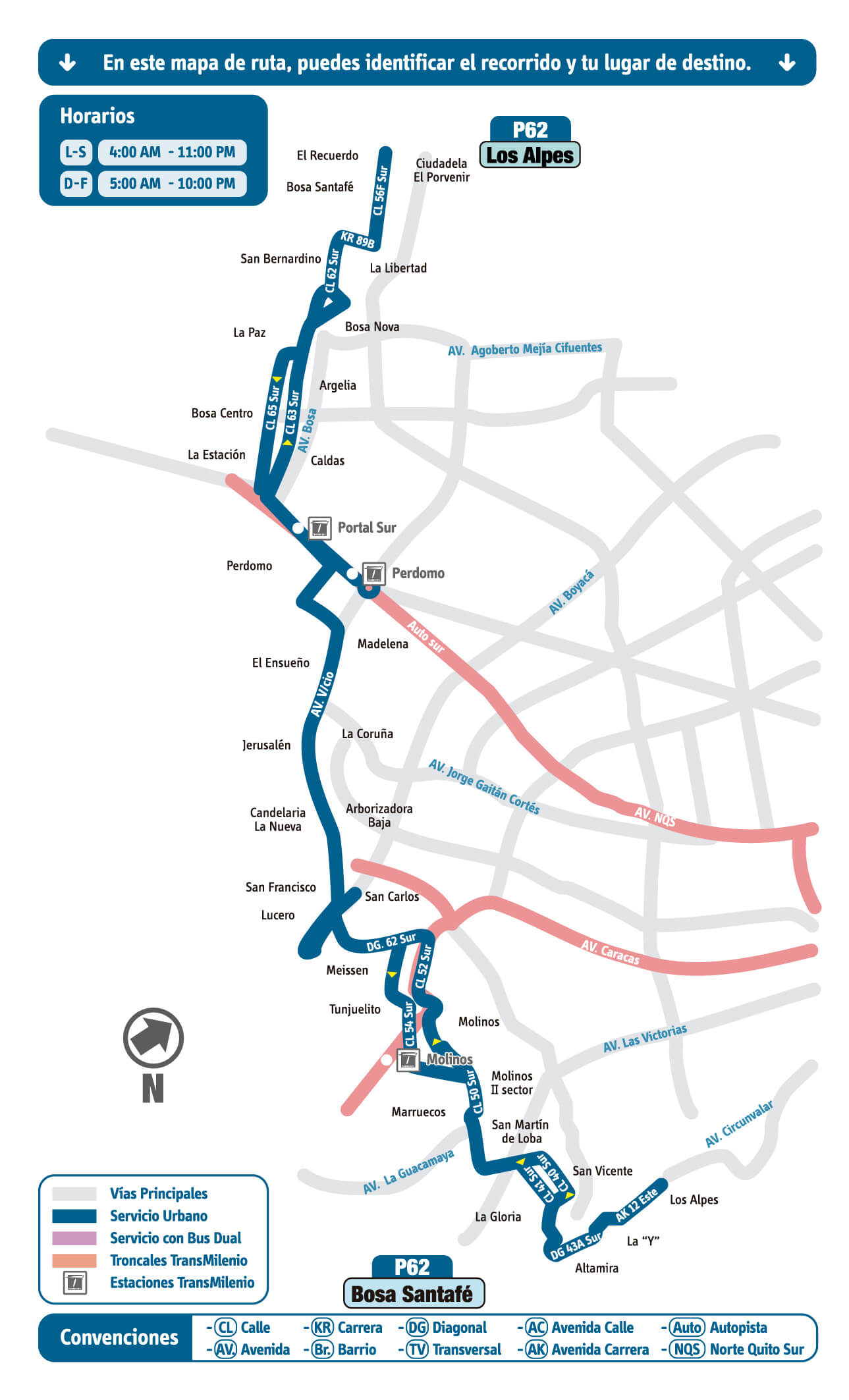 P62 mapa SITP