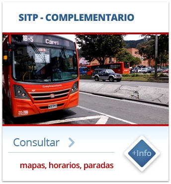 SITP COMPLEMENTARIO - mapas, horarios, paraderos