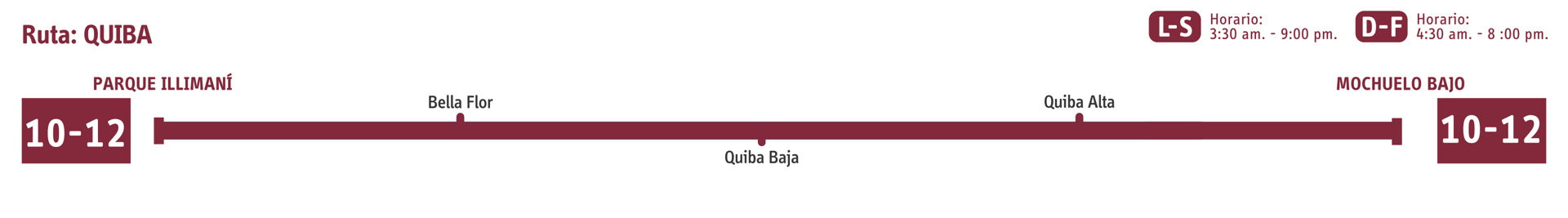 Ruta SITP: 10-12 Quiba [Especial] 3