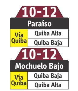 Ruta SITP: 10-12 Quiba [Especial] 6