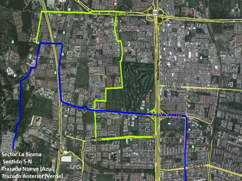 Ligeros cambios en la ruta E57 2