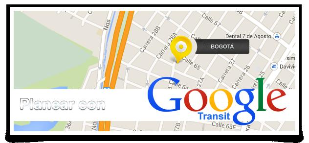 Planificar viaje en Transporte Público en Bogotá