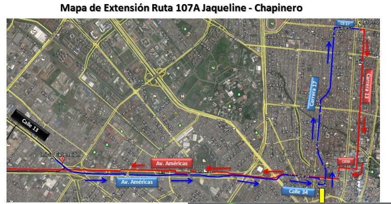 Ruta 107A (urbana) cambia recorrido