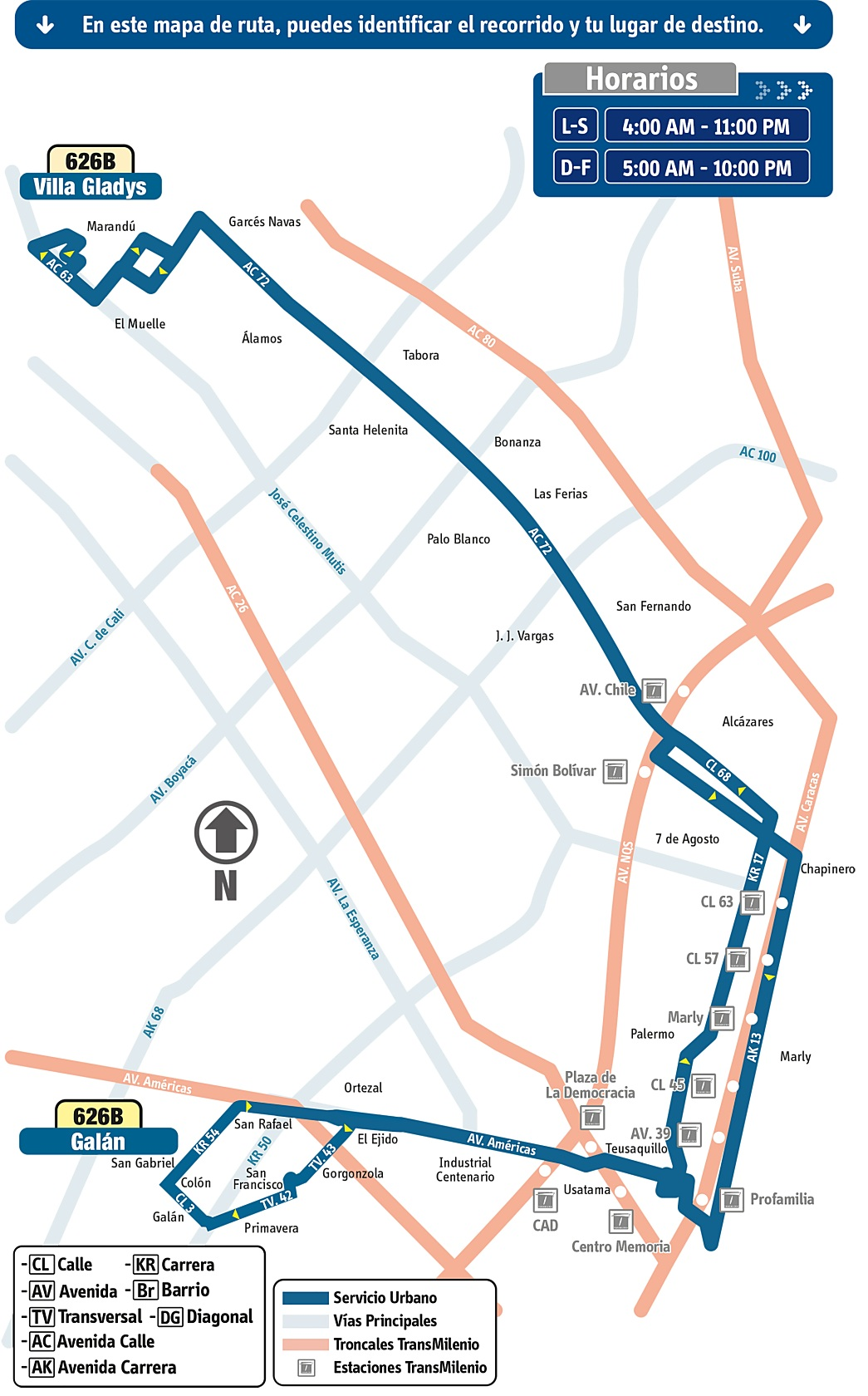 El 27 de abril se extiende la ruta urbana 626B Villa Gladys - Galán 1