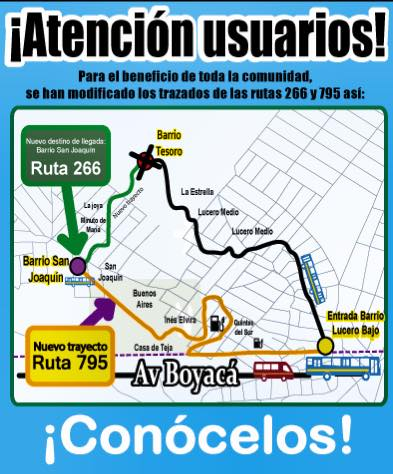 Ruta urbana 795 cambia el recorrido