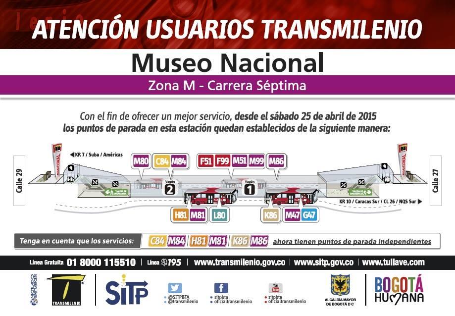 Estación Museo Nacional TM reorganizada