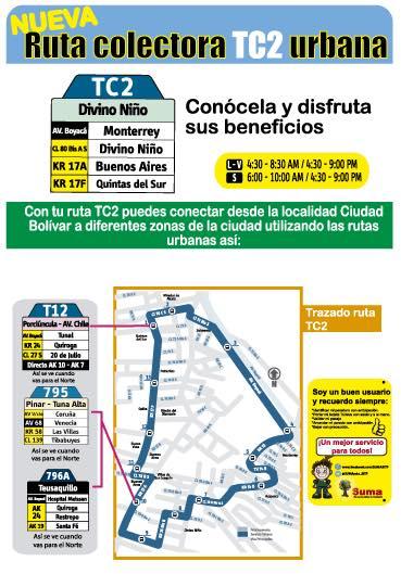 Nueva urbana COLECTORA - TC2: Divino Niño