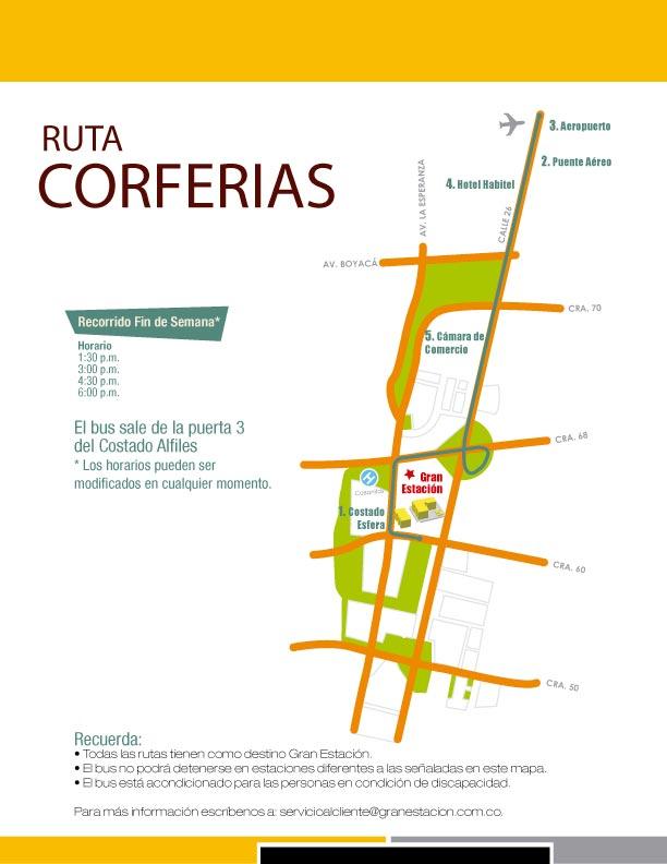 Ruta Centro Comercial Gran Estación (Bogotá)