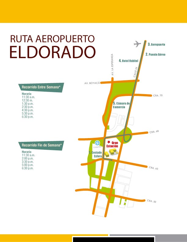Ruta Centro Comercial Gran Estación (Bogotá) 1