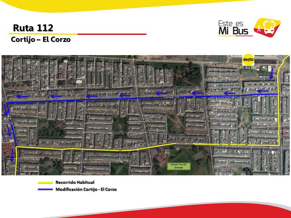 Cambios en la ruta 112 urbana