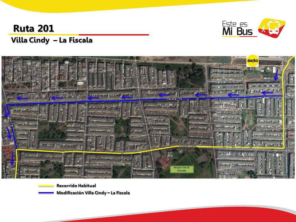 Cambios en la ruta 201 urbana