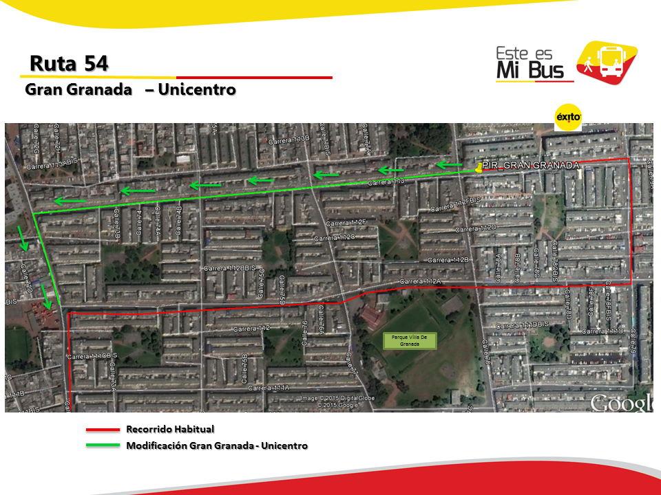 Cambios en la ruta urbana 54, desde el 1 de junio