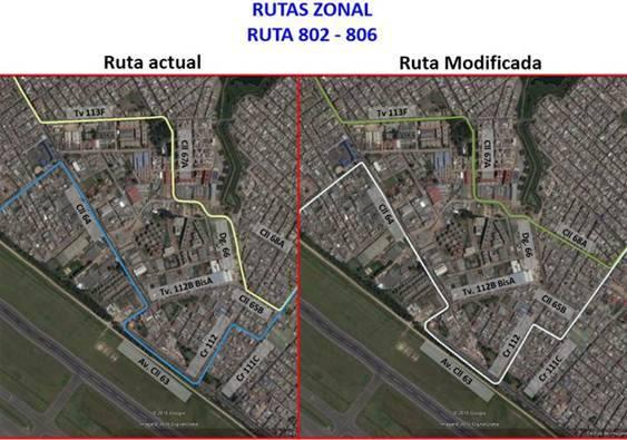 Ligeros cambios en la urbana 802