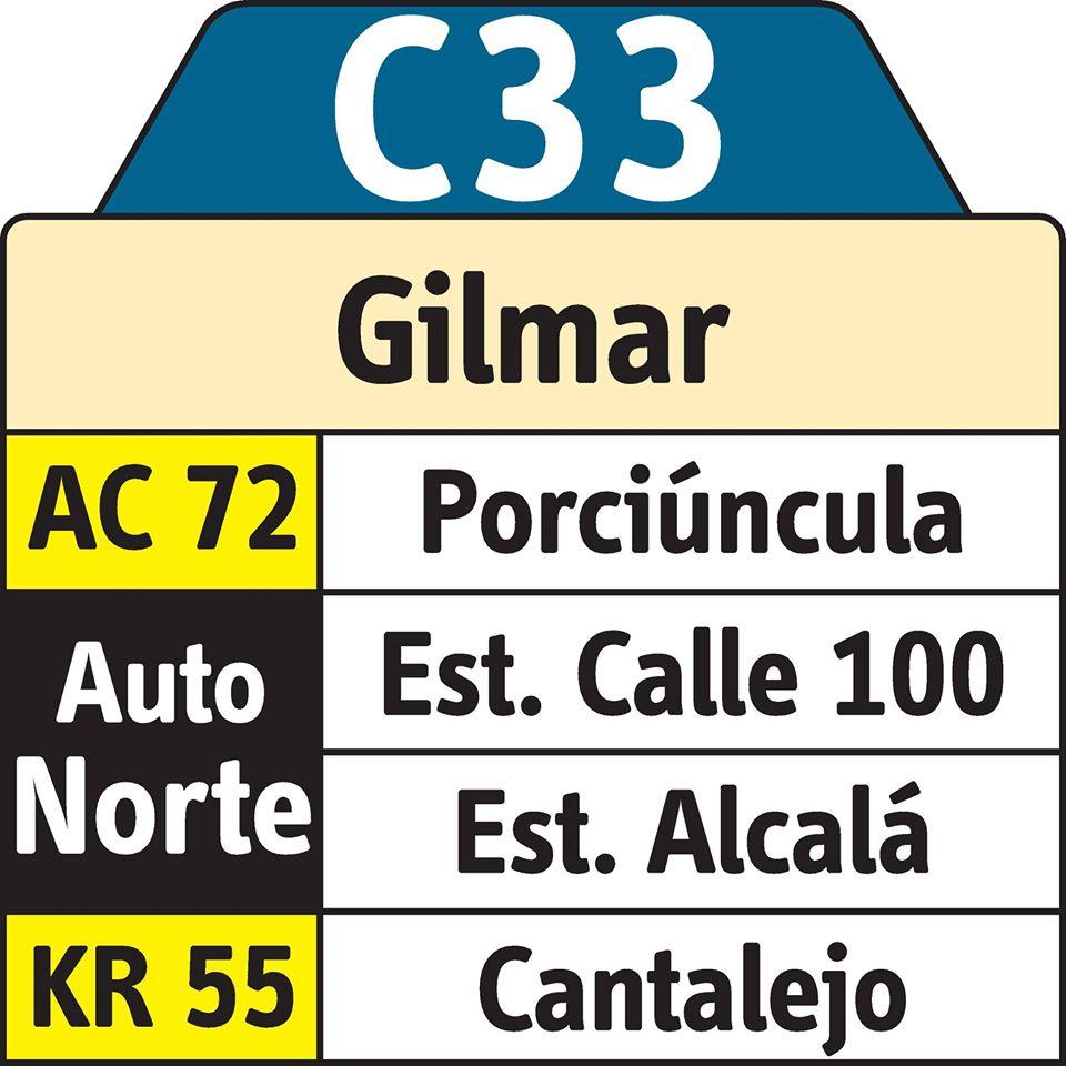 Ruta C33 tiene cambios desde el pasado 30 de mayo 1
