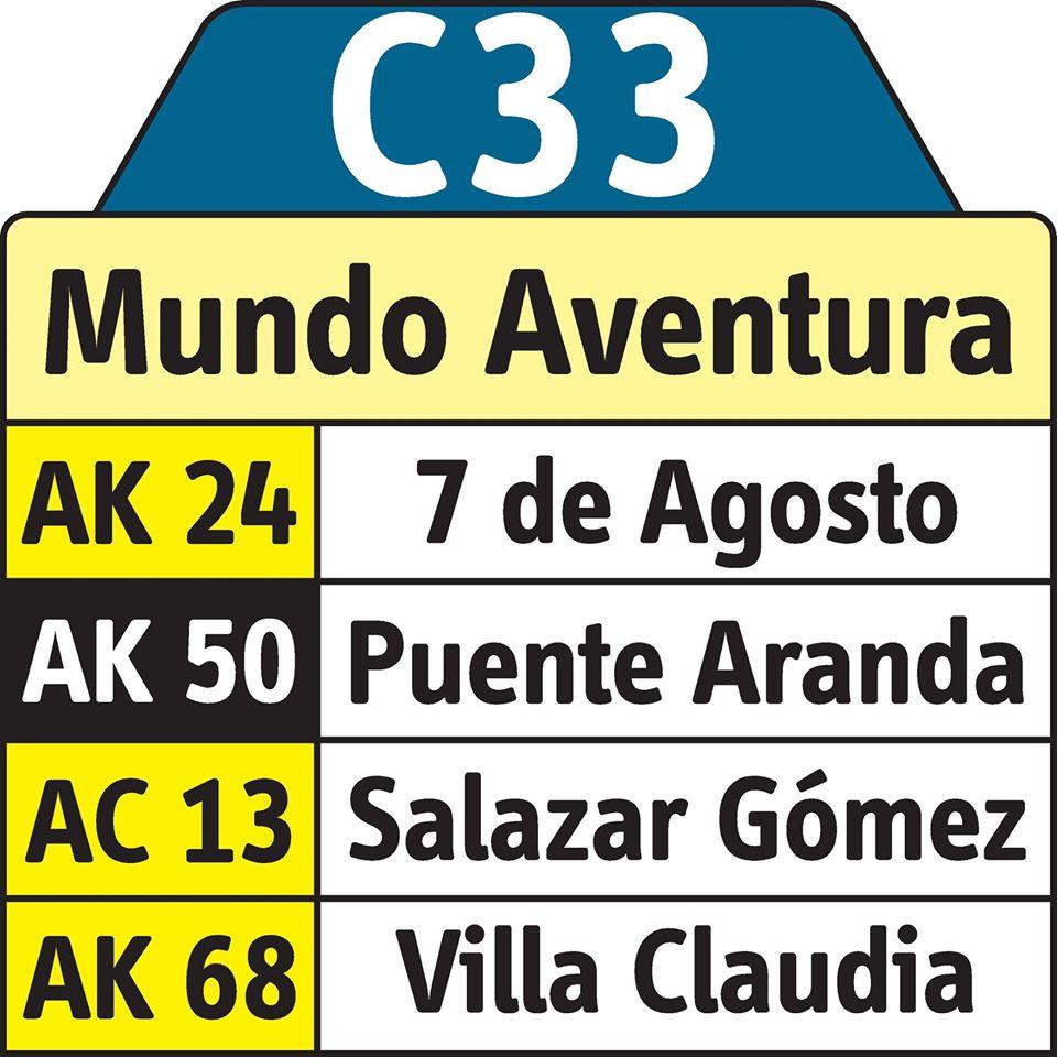 Ruta C33 tiene cambios desde el pasado 30 de mayo 3