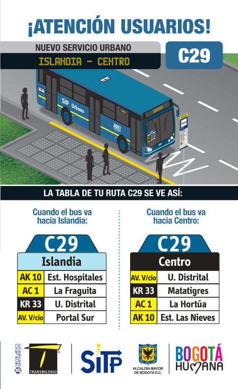 Ruta urbana C29 extendida (extraoficial)