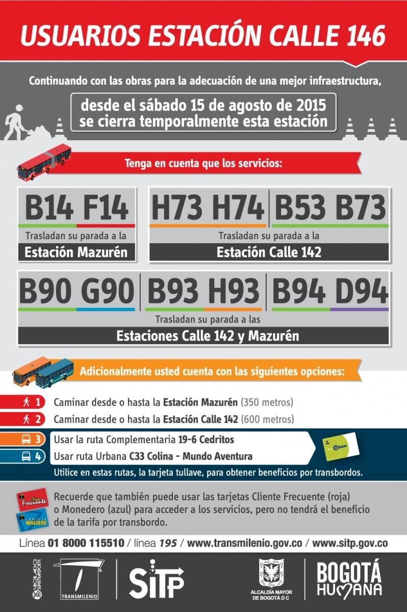 Mañana sábado 18 rutas del SITP y Transmilenio con cambios temporales