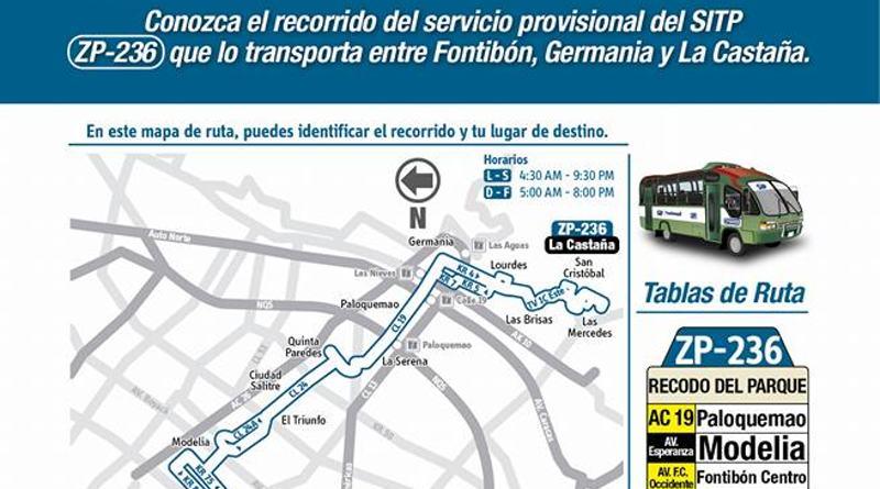 Ruta de bus 236 en proceso de transición al SITP