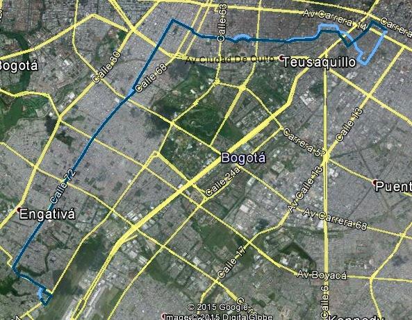 Cambios en la ruta 128 urbana