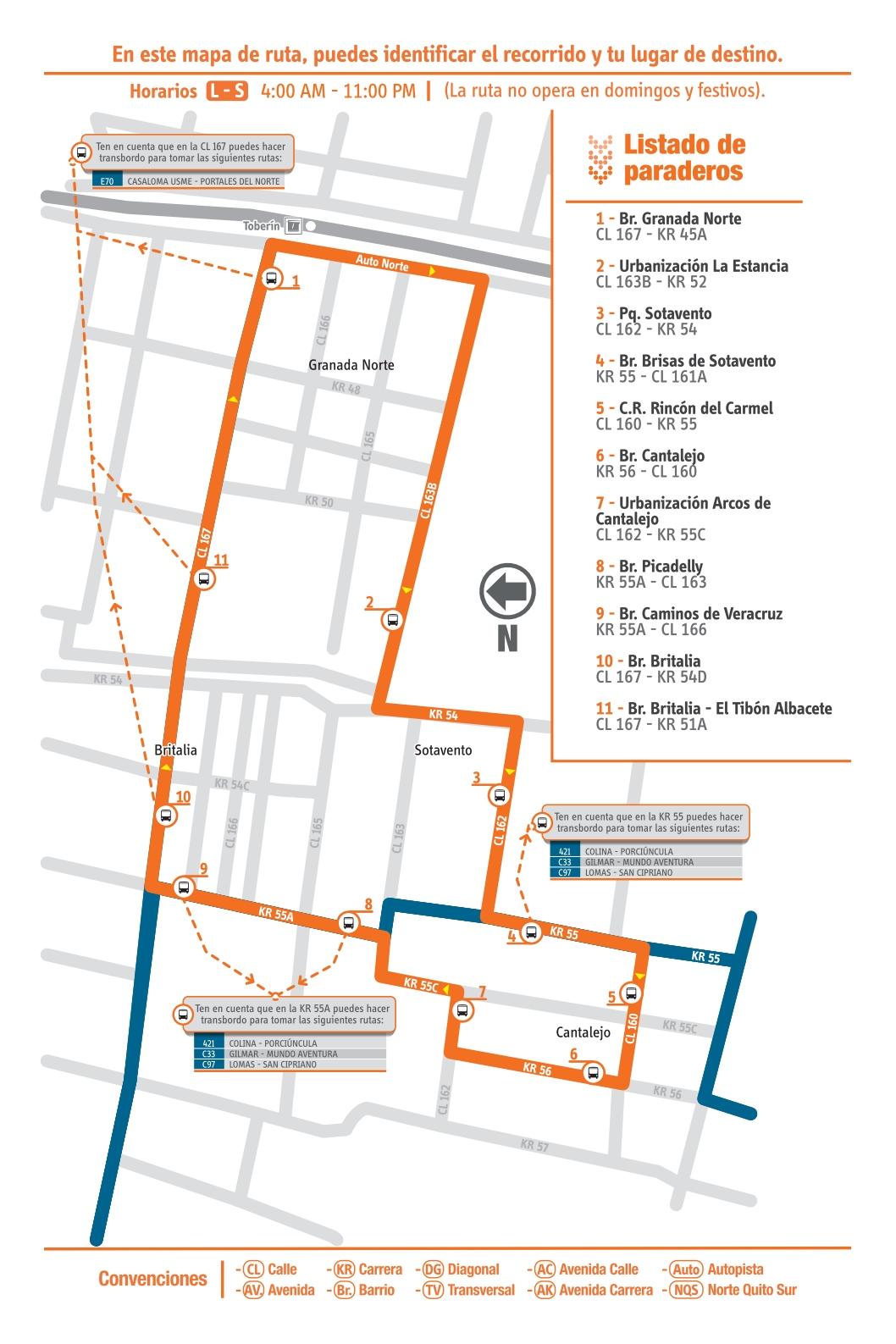 Ruta SITP: 19-12 Cantalejo [Complementaria]