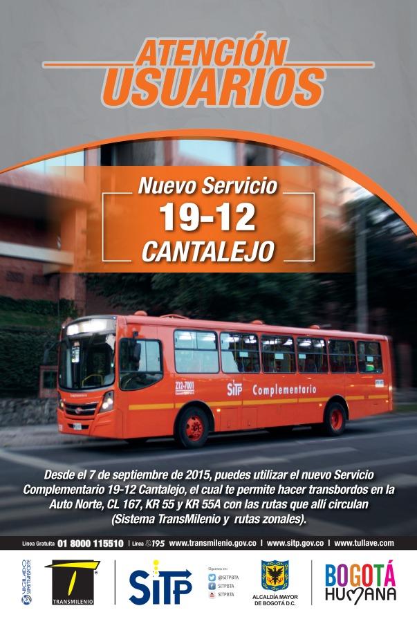 Nueva ruta complementaria 19-12 Cantalejo