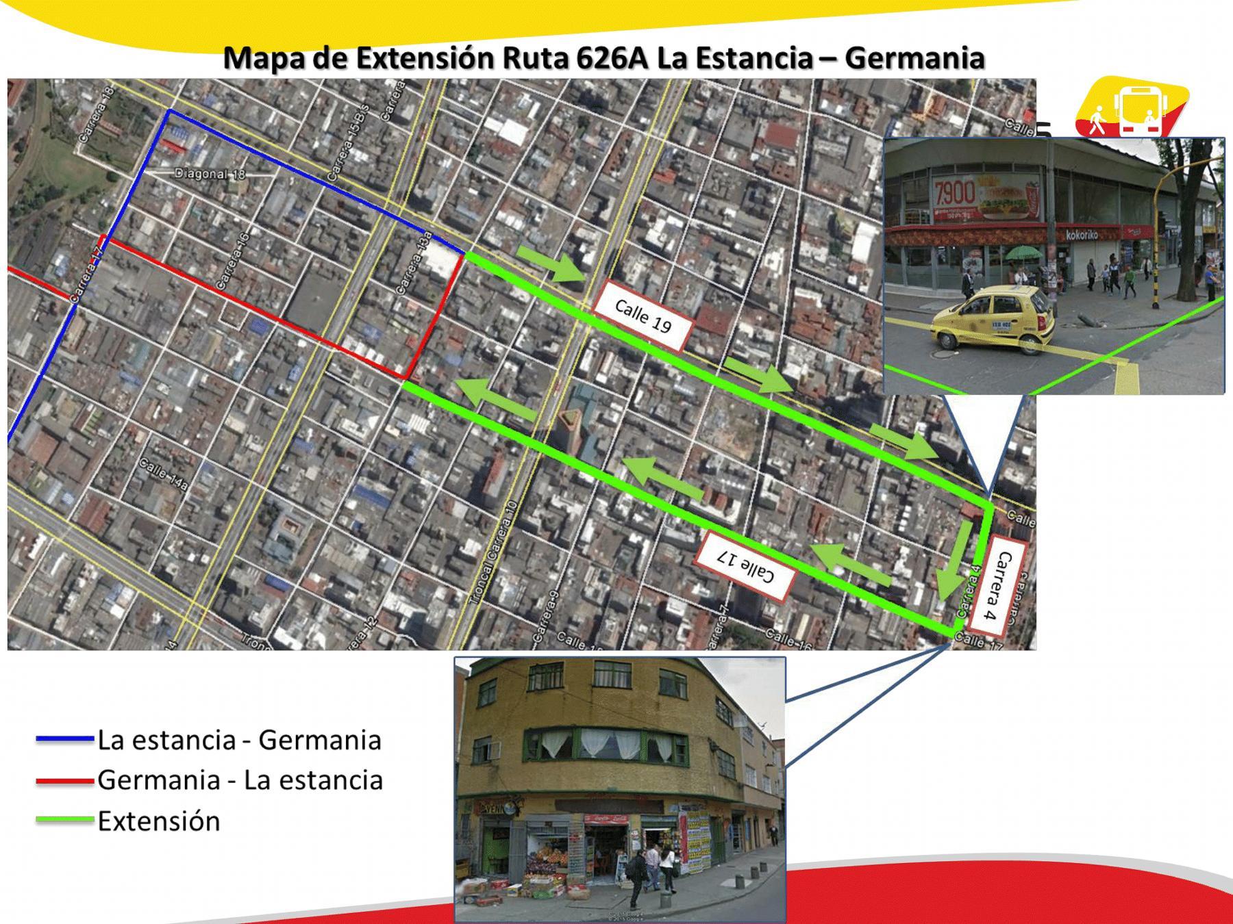 Desde hoy 21 la urbana 626A se extiende hasta Germania