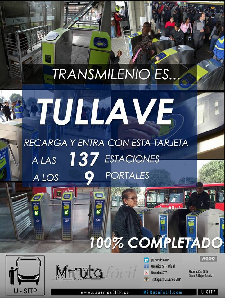Bienvenida a TuLlave, el nuevo sistema de pagos para el SITP 1