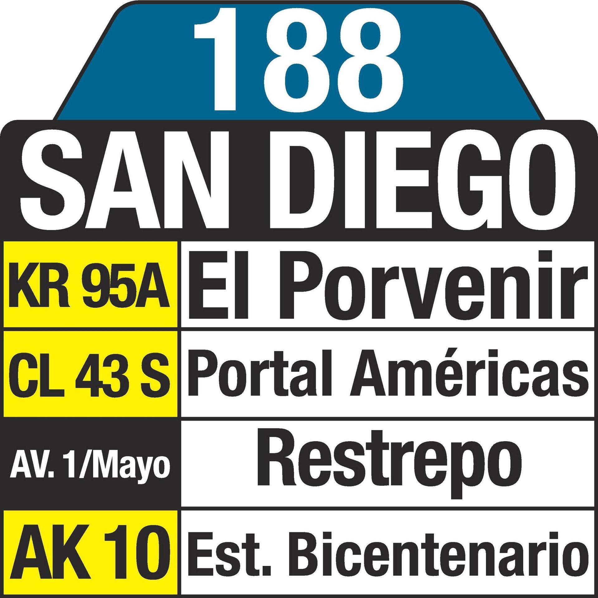 Ruta 188 sufre cambios en su recorrido desde hoy 1