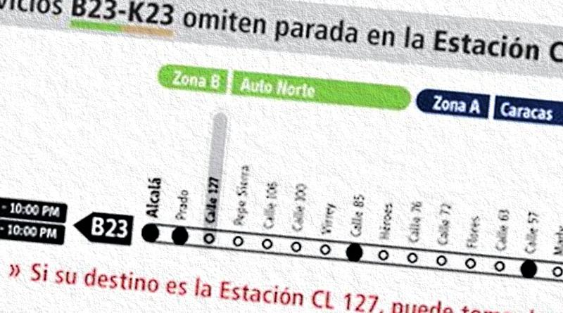 Servicio de Transmilenio B23-K23 tiene cambios 2